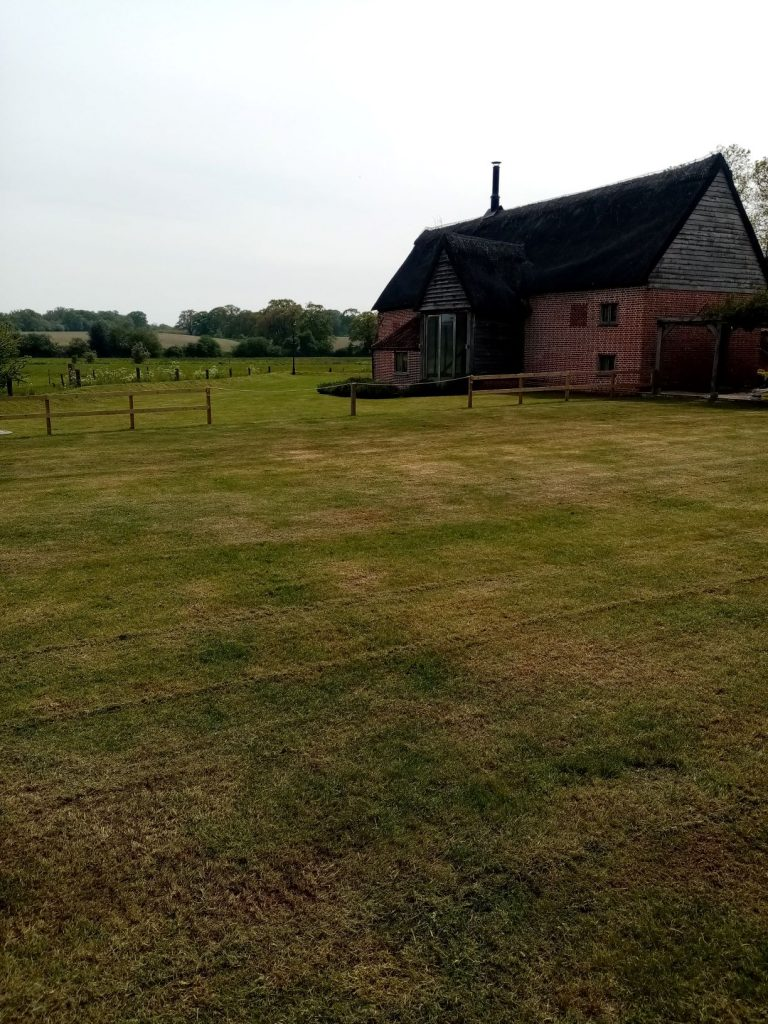 Lawn care after in Beccles Suffolk